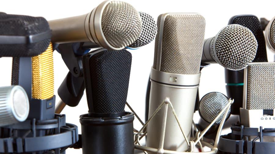 lots of microphones